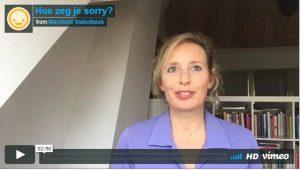 Hoe zeg je sorry? | Machteld Stakelbeek