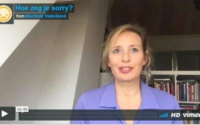 Hoe zeg je sorry?
